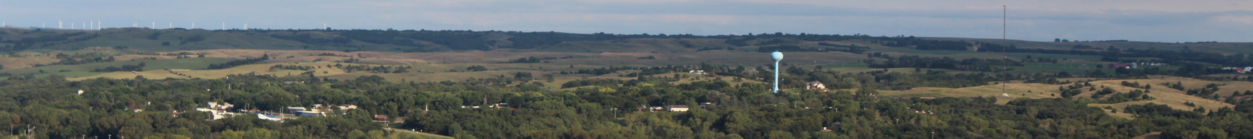 Niobrara Nebraska from nearby hill