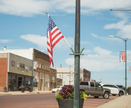 flag on main street
