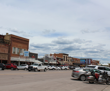 Main street in Custer, South Dakota