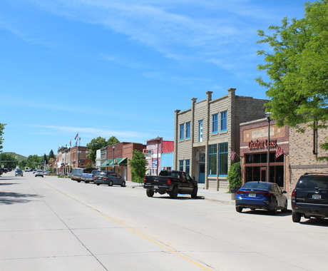 main street in Chadron, Nebraska