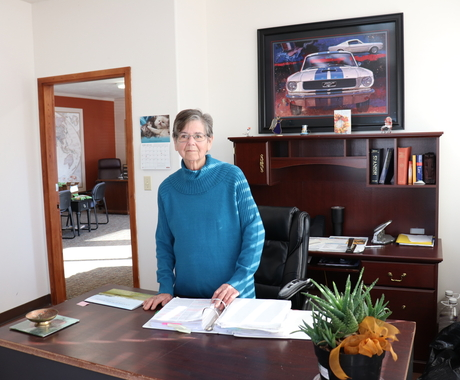Yolanda Peck in her office