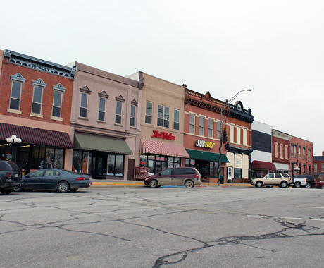 main street in Pawnee City, Nebraska