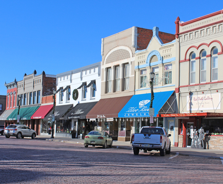 main street in Seward, Nebraska
