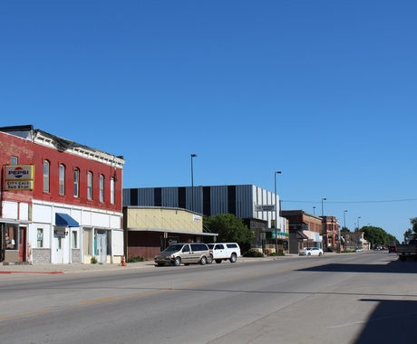 main street in Tekamah, Nebraska