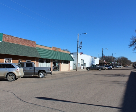 downtown Valpraiso, Nebraska