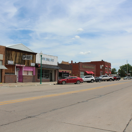 main street in Valentine, Nebraska