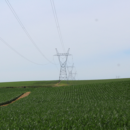transmission line over commodity field