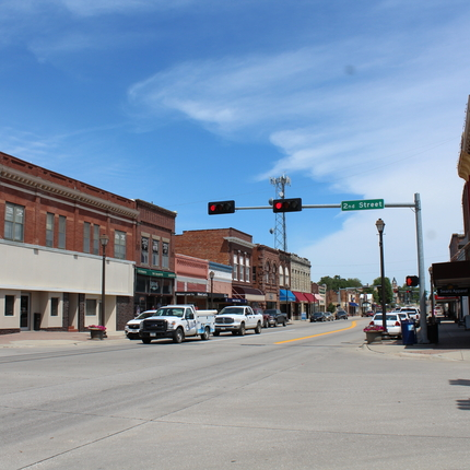 main street in Wayne, Nebraska