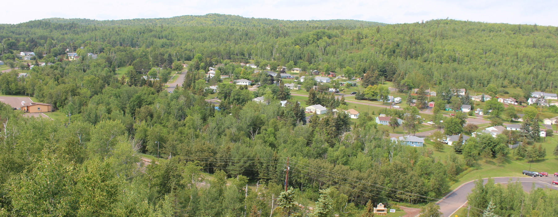 Rural community from nearby hill